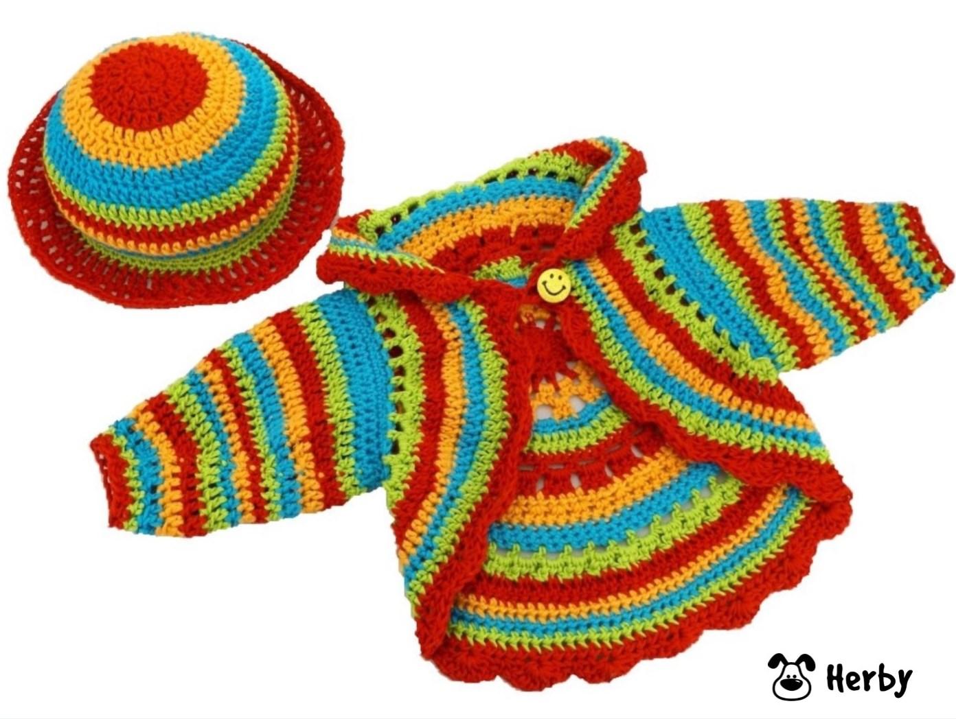 Herbys-Trendartikel - Häkelanleitung Babyjacke mit Hut