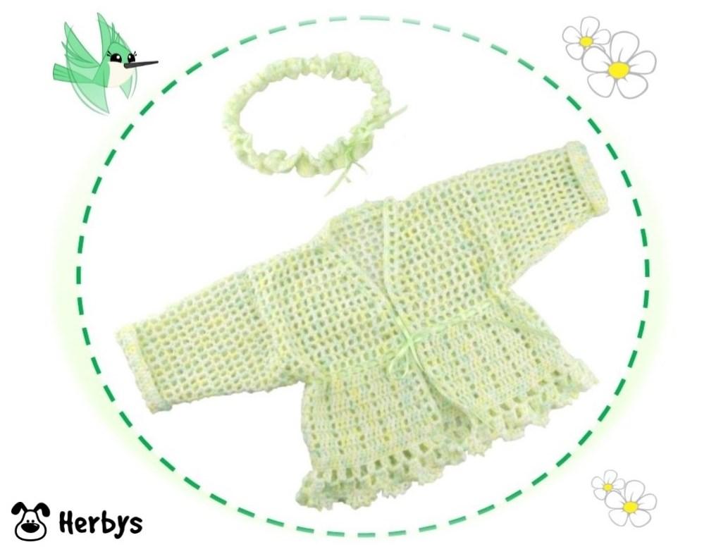 Herbys-Trendartikel - Häkelanleitung Babyjacke mit Stirnband