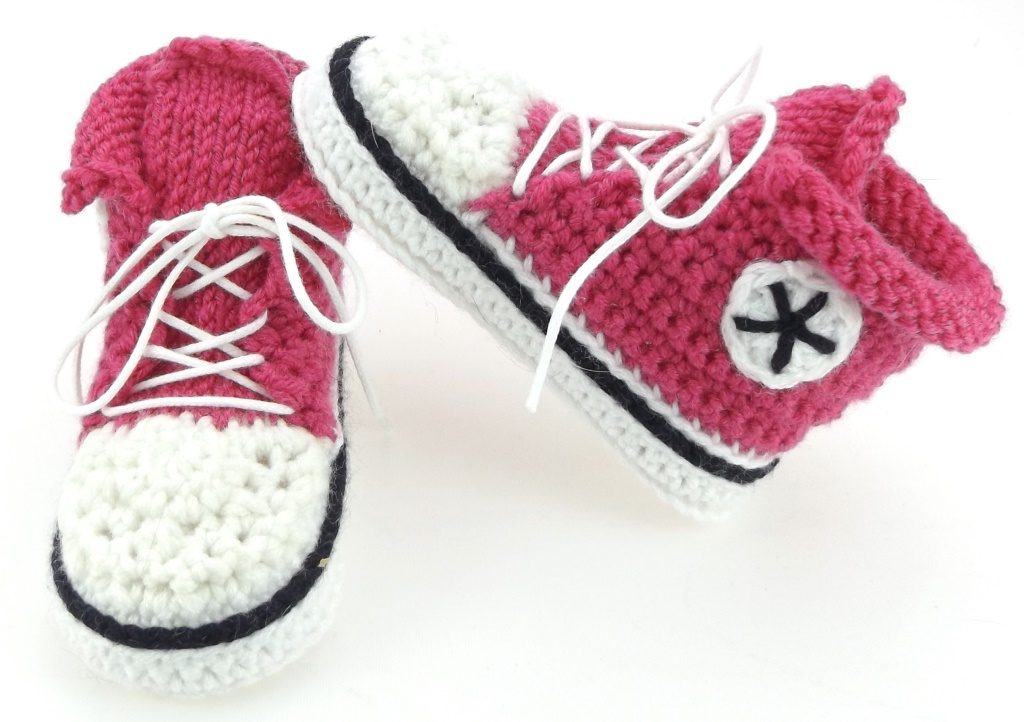 Herbys Trendartikel Häkelanleitung Babyschuhe