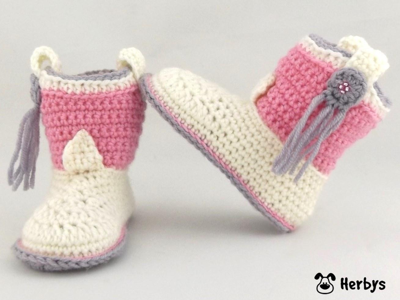 Herbys-Trendartikel - Häkelanleitung Babyschuhe