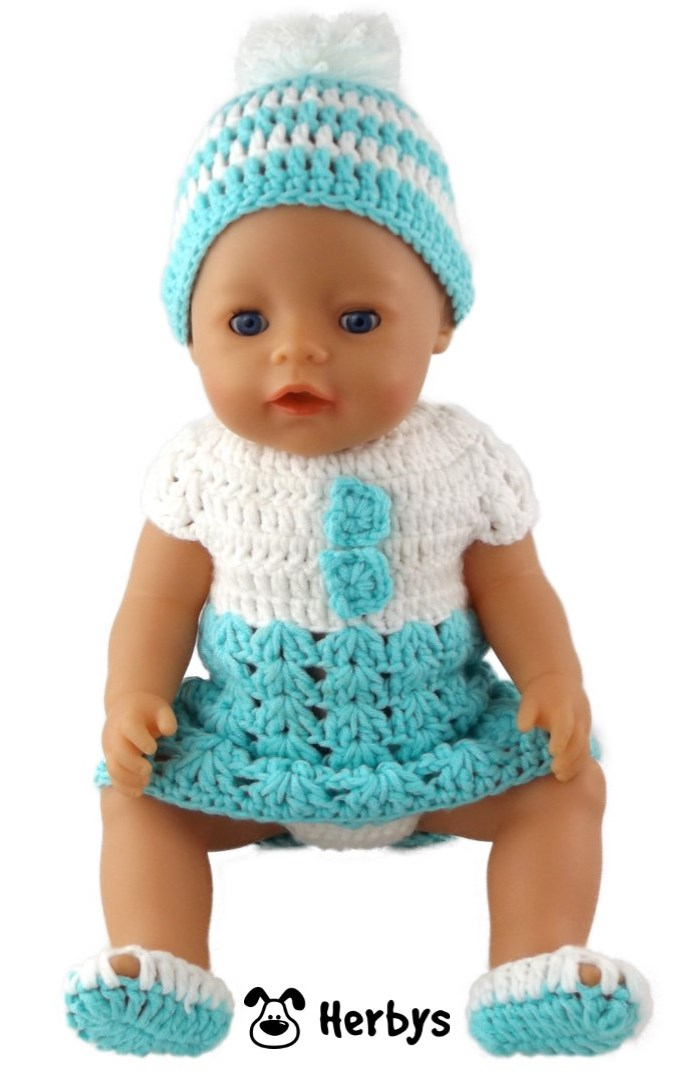 Herbys-Trendartikel - Häkelanleitung Puppenkleidung Baby Born
